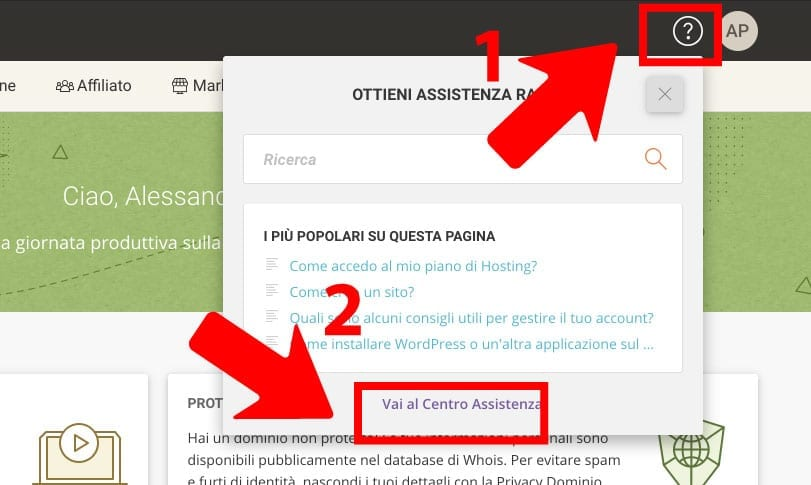 supporto via chat siteground