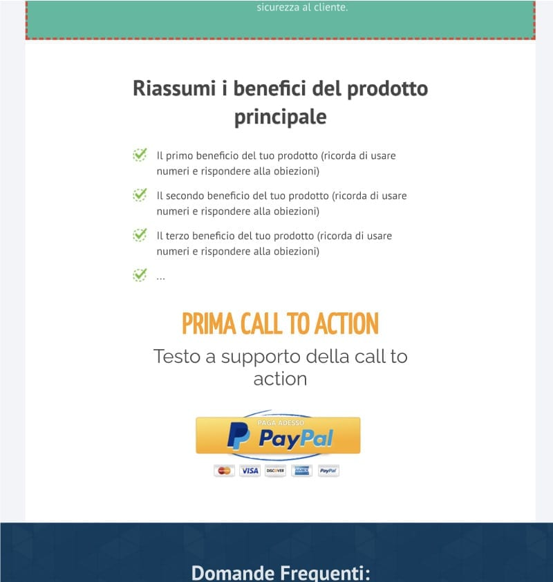 Landing page templates - PayPal