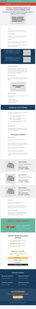 Sales page template - long